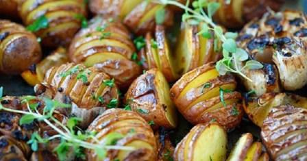 картопля, запечена з часником рецепт приготування