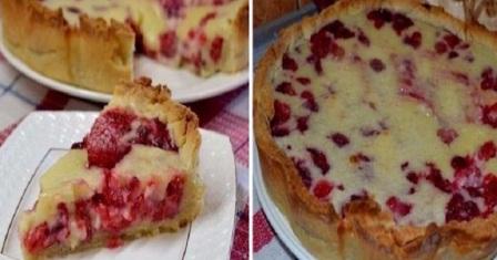 пиріг з малиною рецепт приготування