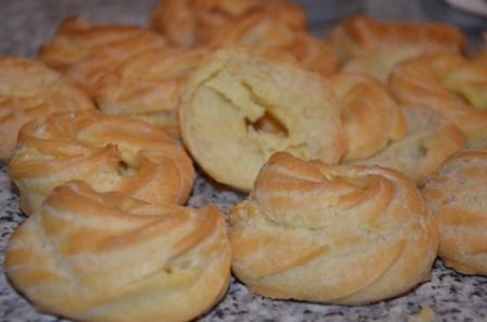 заварні колечка з сирним кремом рецепт приготування