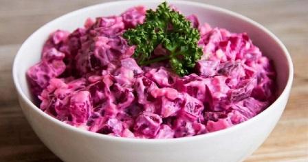 буряковий салат з яйцем рецепт приготування