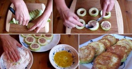 кабачки з м'ясом в клярі рецепт приготування