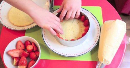 торт «фрез'є» рецепт приготування