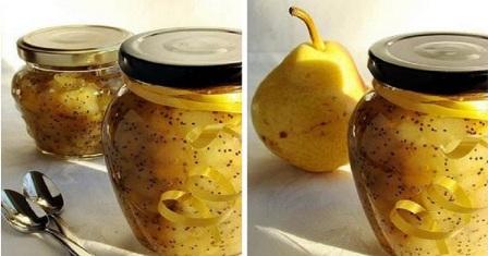 варення з груш з маком рецепт приготування