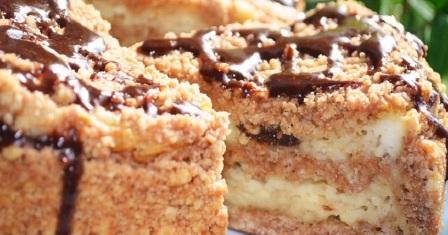 пиріг з сиром і чорносливом рецепт приготування