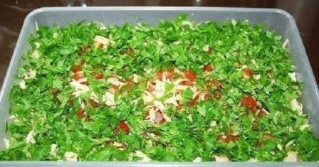 Салат з відварним м'ясом — Рецепт приготування