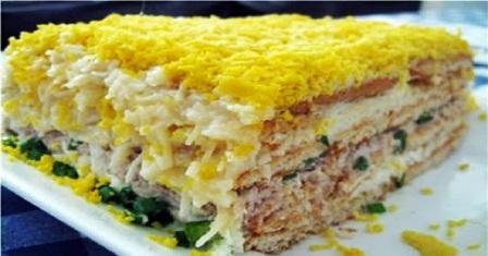 закусочний торт з крекерів рецепт приготування