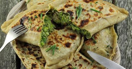 кутаби з зеленню рецепт приготування