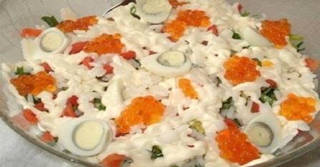 салат з червоною рибою рецепт приготування