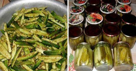 огірки в гірчичній заливці рецепт приготування