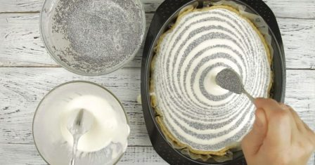 сирний пиріг з маком рецепт приготування