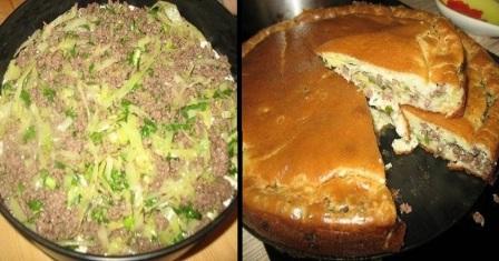 заливний пиріг з капустою рецепт приготування