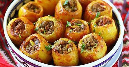картопля, фарширована м'ясом рецепт приготування