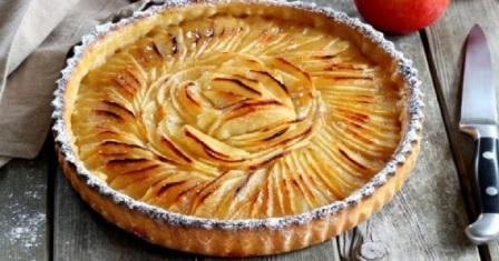 яблучний пиріг по французьки рецепт приготування