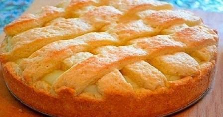 яблучний пиріг з кремом рецепт приготування