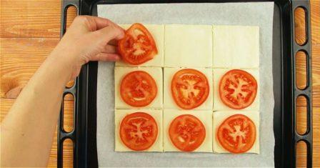 слойки з помідорами рецепт приготування