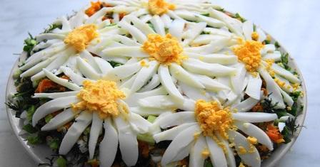 салат «ромашкове поле» рецепт приготування