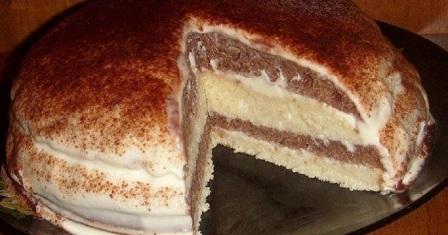 торт на кефірі рецепт приготування