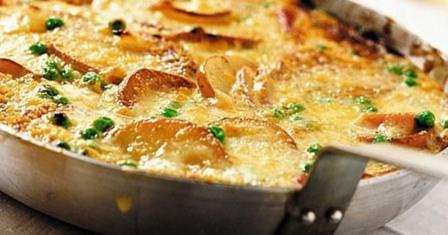 картопляний омлет з грибами рецепт приготування
