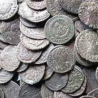 у великобританії знайдені монети римської епохи і залізного століття