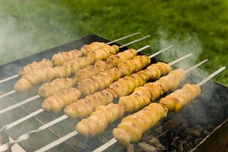 кебаб з картоплі на грилі рецепт приготування