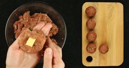 м'ясні кульки з сиром рецепт приготування