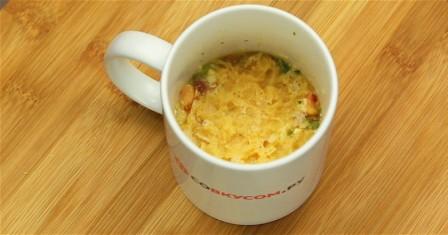 омлет в чашці рецепт приготування