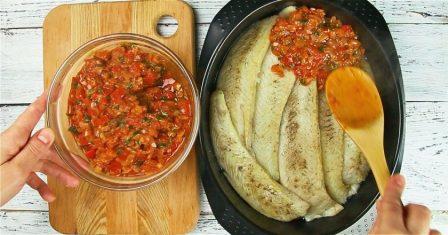 риба в томатному соусі рецепт приготування