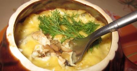 жюльєн з куркою і грибами рецепт приготування