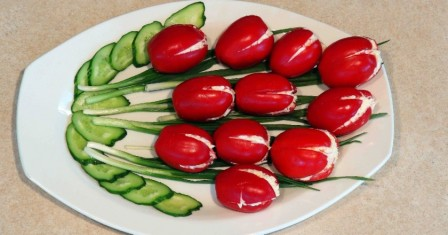 салат «тюльпани» рецепт приготування