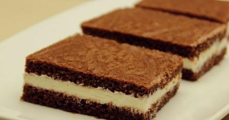 бісквітне тістечко з молочною начинкою рецепт приготування