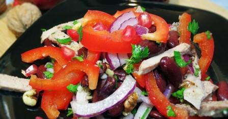 салат «тбілісі» з яловичиною рецепт приготування