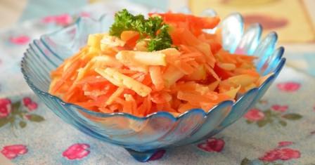 морквяний салат з сиром рецепт приготування