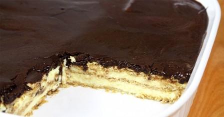 торт еклер без випічки рецепт приготування