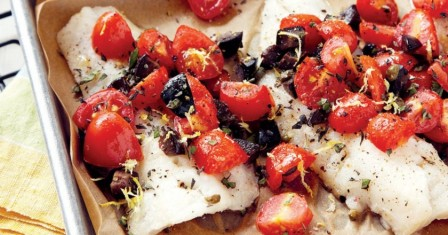 тріска, запечена з помідорами рецепт приготування