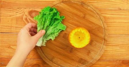 салат в апельсині рецепт приготування