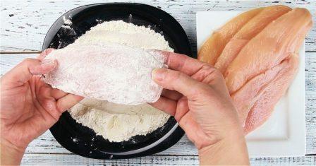 курка в панірувальних сухарях і сирі рецепт приготування