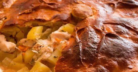 пиріг з куркою та картоплею рецепт приготування