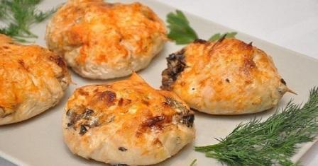 куряча грудка з грибами рецепт приготування