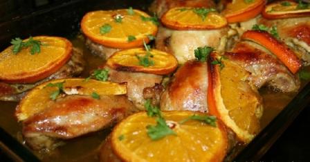 курка з апельсинами рецепт приготування
