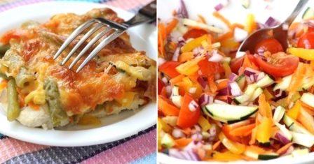 курячий стейк з овочами рецепт приготування