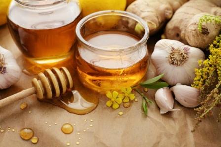 мед з часником