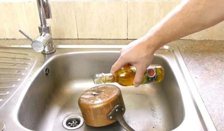 очистить посуду