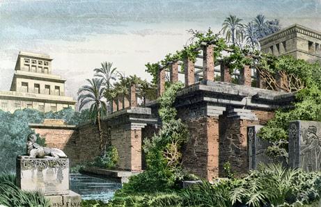Де знаходяться висячі сади Семіраміди?
