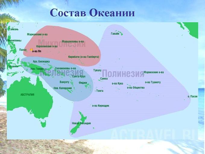 Що являє собою Океанія?