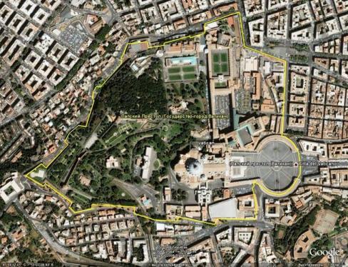 Яких розмірів Ватикан?